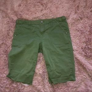 Pants - Green Jean shorts